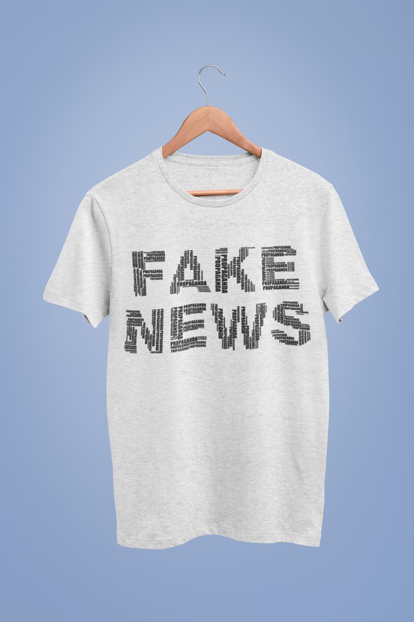 Футболка серая - Fake news