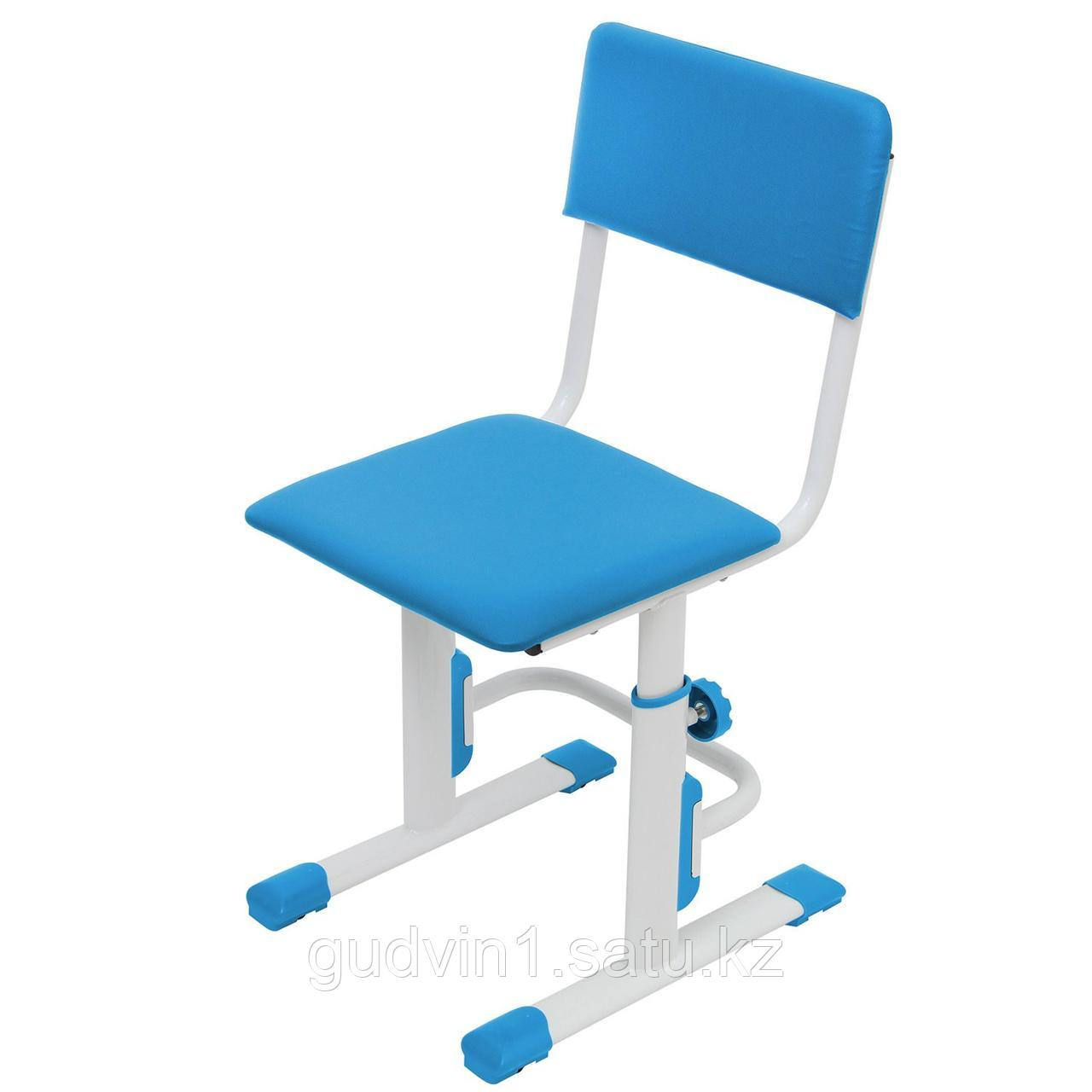 Стул для школьника регулируемый Polini City / Polini Smart L, белый-синий 01-00192