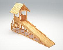 Зимняя деревянная игровая горка Савушка Зима wood - 5 (неокрашенная)
