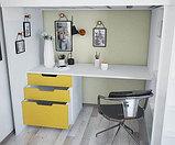 Кровать - чердак Polini Simple с письменным столом и шкафом, цвет белый солнечный 00-72573, фото 3
