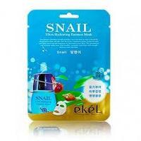 Ekel Snail Ultra Hydrating Mask 10 ea Увлажняющая регенерирующая тканевая маска с улиточным муцином