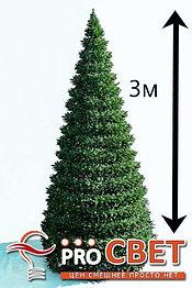 Искусственная каркасная елка Астана, хвоя-пленка 3 м (диаметр 1,3 м)