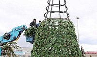 Искусственная каркасная елка Астана, хвоя-пленка 22м (диаметр 9.7м), фото 9