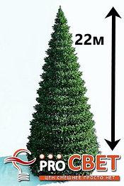 Искусственная каркасная елка Астана, хвоя-пленка 22м (диаметр 9.7м)