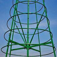 Искусственная каркасная елка Астана, хвоя-пленка 25м (диаметр 11м), фото 5