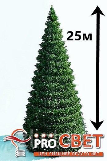 Искусственная каркасная елка Астана, хвоя-пленка 25м (диаметр 11м)