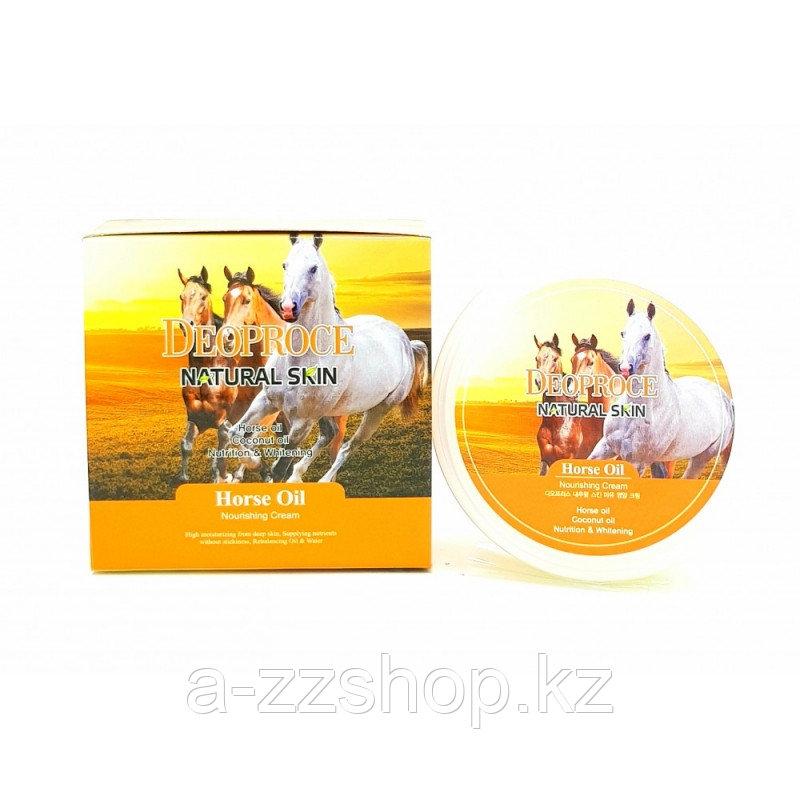 Deoproce Natural Skin Horse Oil Nourishing Cream - Крем для лица и тела на основе лошадиного жира