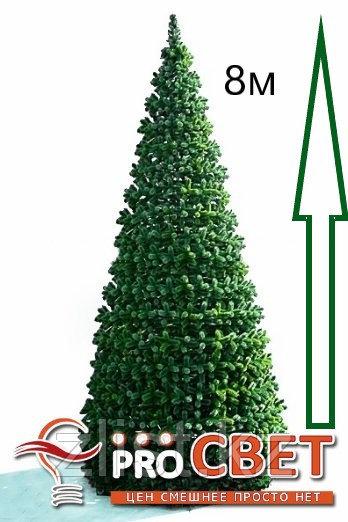 Сосна искусственная, елки искусственные из пвх леска 8 м (диаметр 3.5 м)