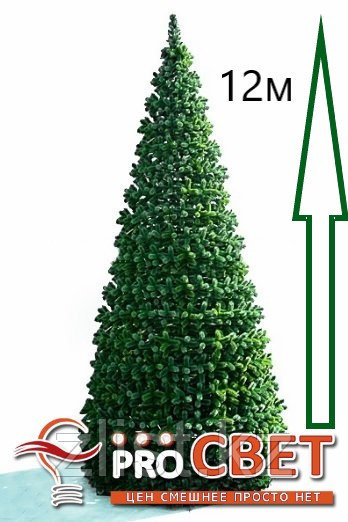 Сосна искусственная, елки искусственные из пвх леска 12 м (диаметр 5.2 м)