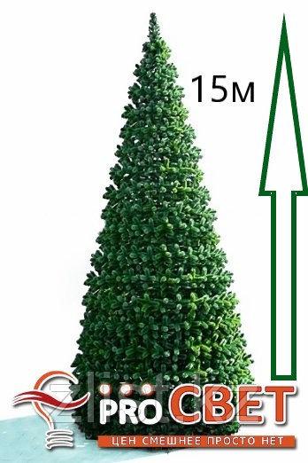 Сосна искусственная, елки искусственные из пвх леска 15 м (диаметр 6.6 м)