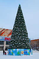 Сосна искусственная, елки искусственные из пвх леска 18 м (диаметр 7.9 м), фото 9