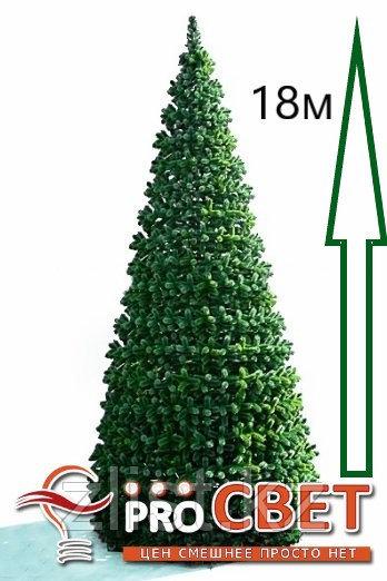 Сосна искусственная, елки искусственные из пвх леска 18 м (диаметр 7.9 м)