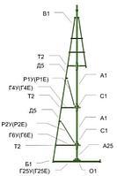 Сосна искусственная, елки искусственные из пвх леска 22 м (диаметр 9.7 м), фото 6
