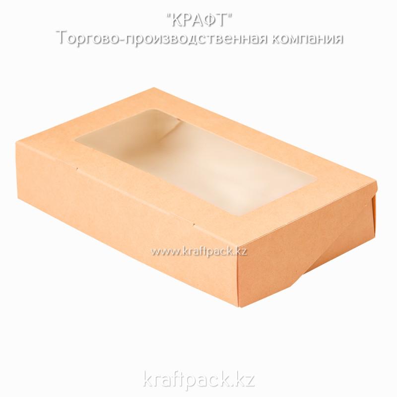 Коробка с окном 1450мл 260*150*40 (Eco Tabox 1450) DoEco (50/300)