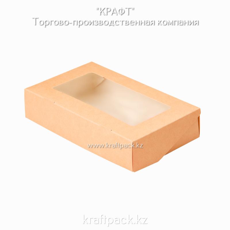 Коробка с окном 1000мл 200*120*40 (Eco Tabox 1000) DoEco (50/450)