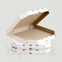Гофрокоробка для пиццы, 33*33*3, белая 50шт/уп