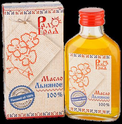 """Масло льняное """"Радоград"""", 100мл"""