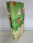 Складной двухсторонний термоковрик для малышей. Ростомер и зверушки. Размер 1,8 м.* 2 м.* 1 см., фото 2