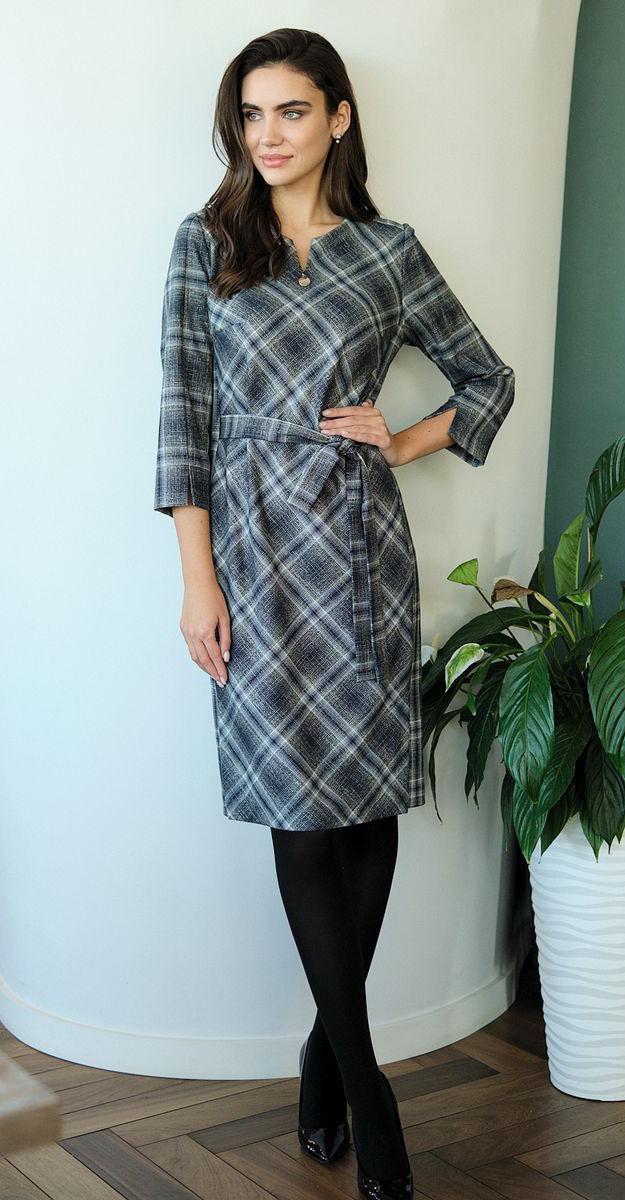 Платье Fantazia Mod-3577, клетка, 50