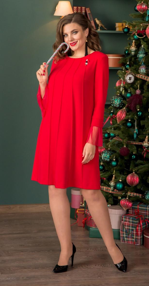 Платье Галеан Cтиль-671, красный, 52