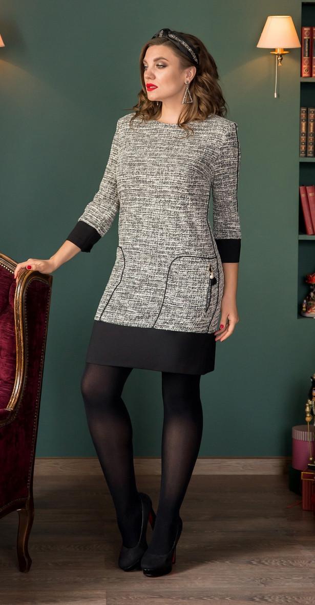 Платье Галеан Cтиль-721, серый, 50