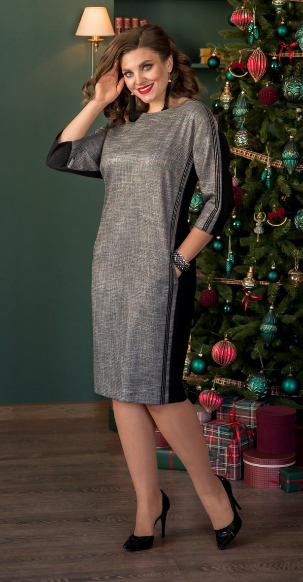 Платье Галеан Cтиль-725, серый, 54