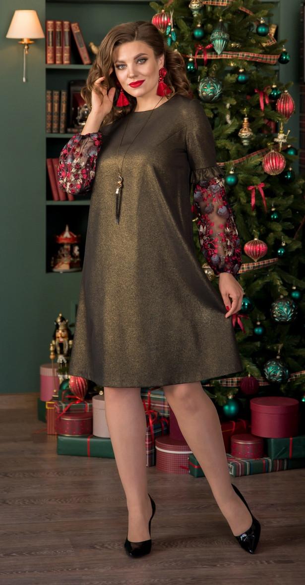 Платье Галеан Cтиль-728, бронза, 48