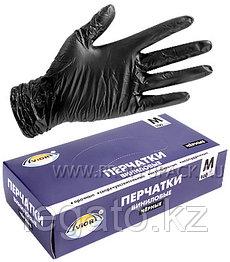 Перчатки нитриловые, черные размер M 100 шт/уп. 10 уп/кор. Aviora