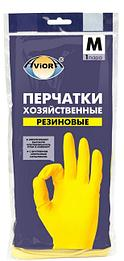 Перчатки хозяйственные желтые Aviora размер М 120 пар/кор