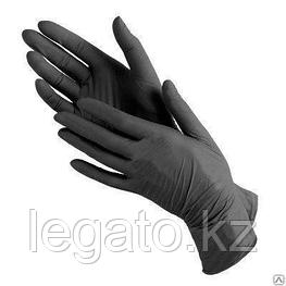 Перчатки виниловые черные, неопудр L 100шт/упак 10уп/кор