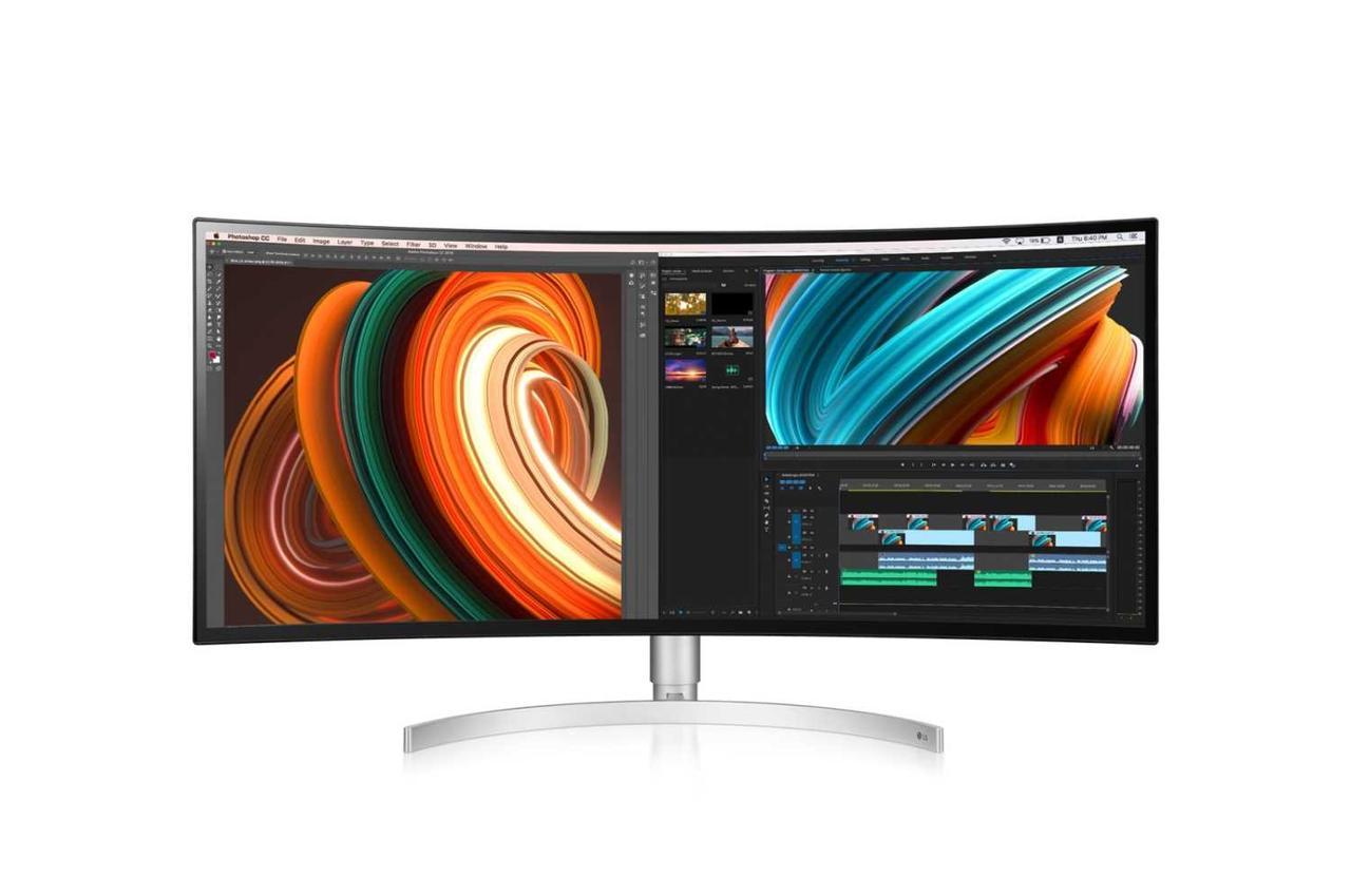 Монитор LG34WK95C-W LCD 34'' 21:9 3440x1440(UWQHD) IPS, Curved, nonGLARE, 450cd/m2, H178°/V178°, 1000:1, 1.07