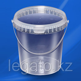 Ведро HTI 2,3л MP прозрачное с прозрачной крышкой (КРЫШКА ОТДЕЛЬНО) 40 шт/упак крышка: 10778