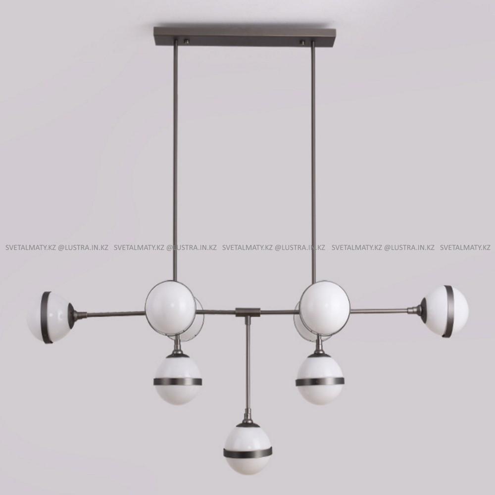 Люстра на 9 ламп черная в современном стиле Post-Modern