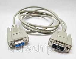 Кабель интерфейсный DB9F-DB9M pin-to-pin 1.8м литой