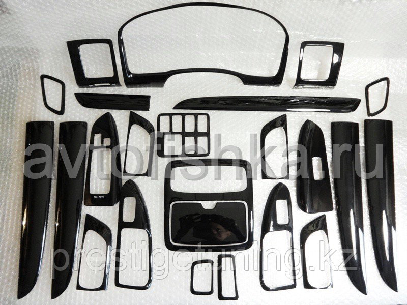 Комплект деталей под дерево на LC Prado 120 (24 элементов) черный цвет