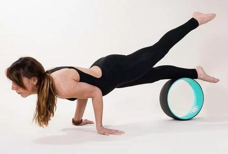 Фитнес круг для пилатеса колесо для йоги, фото 2