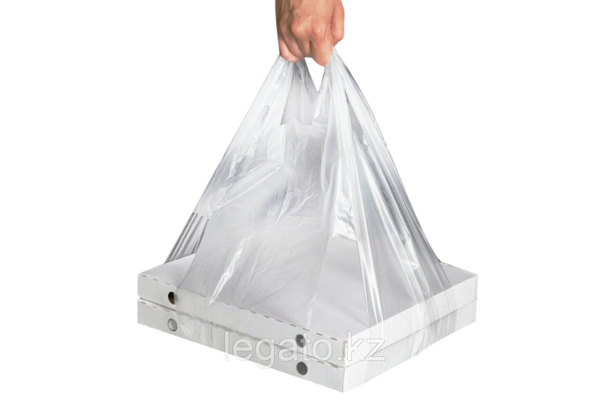 Пакет-майка под пиццу 42*30*70 14мкр прозрачный 50шт/упак  1000шт/кор