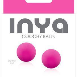 """Вагинальные шарики без сцепки """"INYA - Coochy Balls"""", силикон, цвет розовый"""
