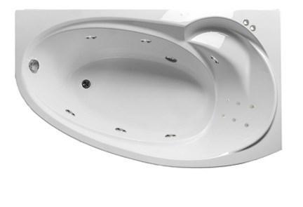 Акриловая гидромассажная ванна Джуллиана 170х100х65 см.(Общий массаж, спина)