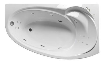 Акриловая гидромассажная ванна Джуллиана 170х100х65 см.(Общий массаж, спина, ноги), фото 2