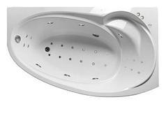 Акриловая гидромассажная ванна Джуллиана 160х95х65 см.(Общий массаж, спина, ноги,дно)