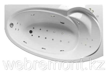 Акриловая гидромассажная ванна Джуллиана 160х95х65 см.(Общий массаж, спина, ноги,дно), фото 2