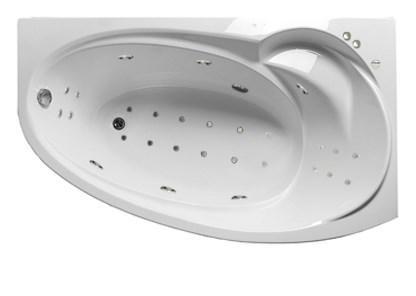 Акриловая гидромассажная ванна Джуллиана 170х100х65 см.(Общий массаж, спина, ноги,дно)