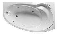 Акриловая гидромассажная ванна Джуллиана 160х95х65 см.(Общий массаж, NANO массаж), фото 3