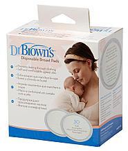 Прокладки на грудь Dr.Brown's  одноразовые, 30шт