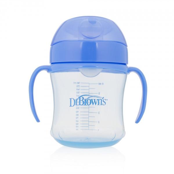 Чашка-непроливайка Dr. Brown's 180 мл с мягким носиком и откидной крышкой, 6+