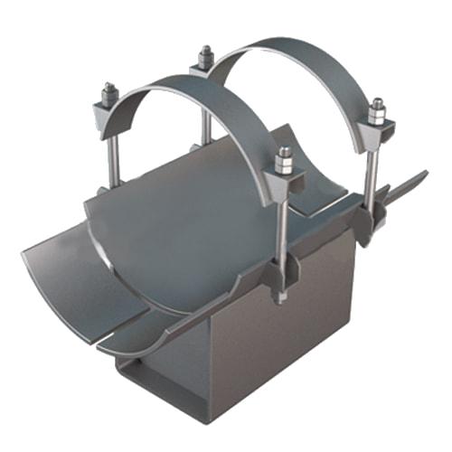 Опоры трубопроводов (скользящие, подвижные, подвески)