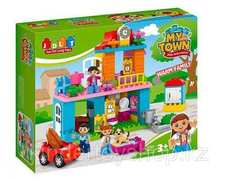 Конструктор JDLT 5295 My town город, дом,аналог лего дупло LEGO DUPLO 10835 Семейный дом 96 дет
