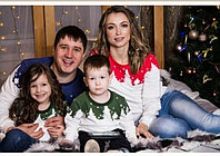 Новогодний семейный набор свитшотов
