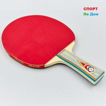 Ракетка для настольного тенниса Gold Cup в чехле, фото 2
